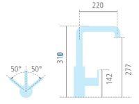 NOBILI LIVE Armatur chrom mit ausziehbarer Schlaubrause 720045 Hochdruck + 5 Jahre Garantie