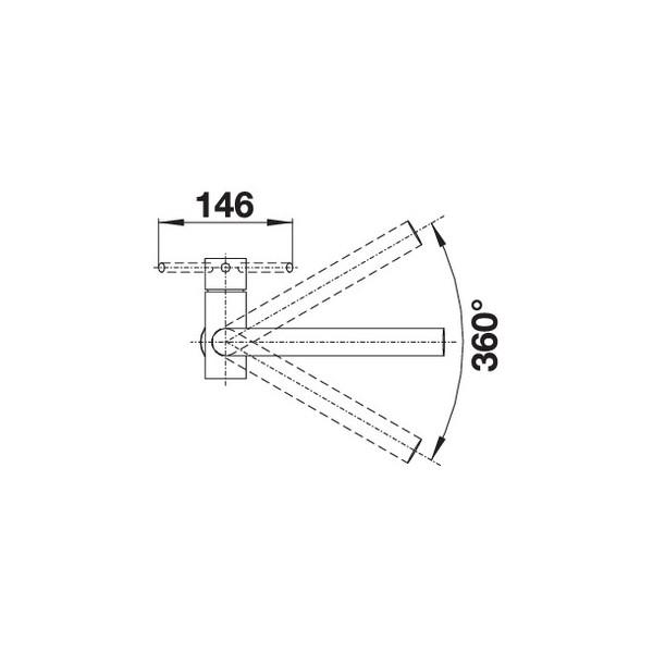 Einhandmischer // K/üchenarmatur Hochdruck Blanco Lomis Edelstahl geb/ürstet 1 St/ück; 518718