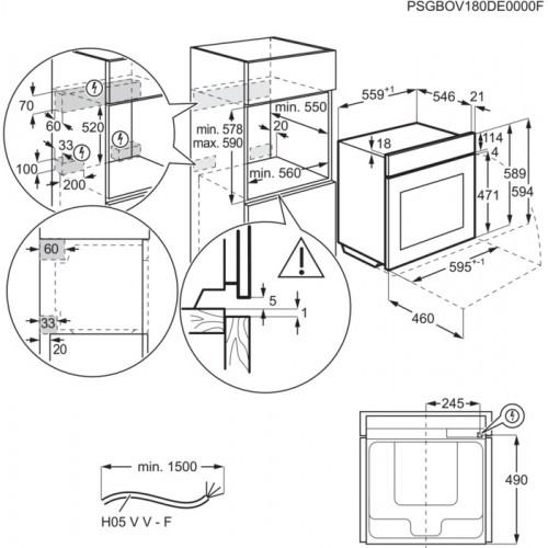 AEG BPE435060B Einbau-Backofen mit 3 fach Vollauszug FlexyRunners EEK: A+ – Bild 4