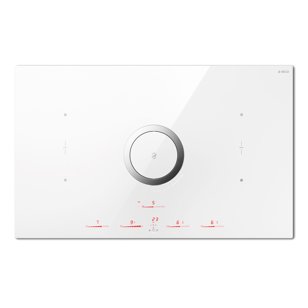 Elica NikolaTesla Switch PRF0146213 weiß, Umluftbetrieb  , Kochfeld mit integriertem Dunstabzug  – Bild 1