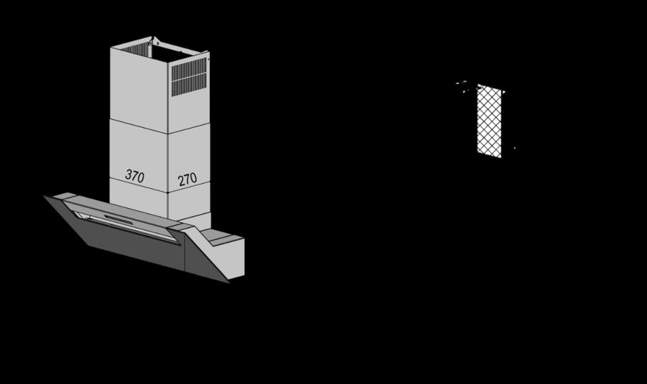 Berbel Ergoline 2 BKH70EG-2 Schwarz 1040106 Wandhaube, mit 5 Jahren Garantie – Bild 3