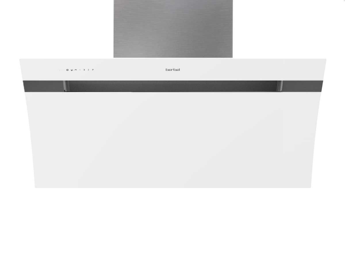 Berbel Glassline 2 BKH110GL-2 Weiß 1040068 Weiß Wandhaube, mit 5 Jahren Garantie – Bild 1