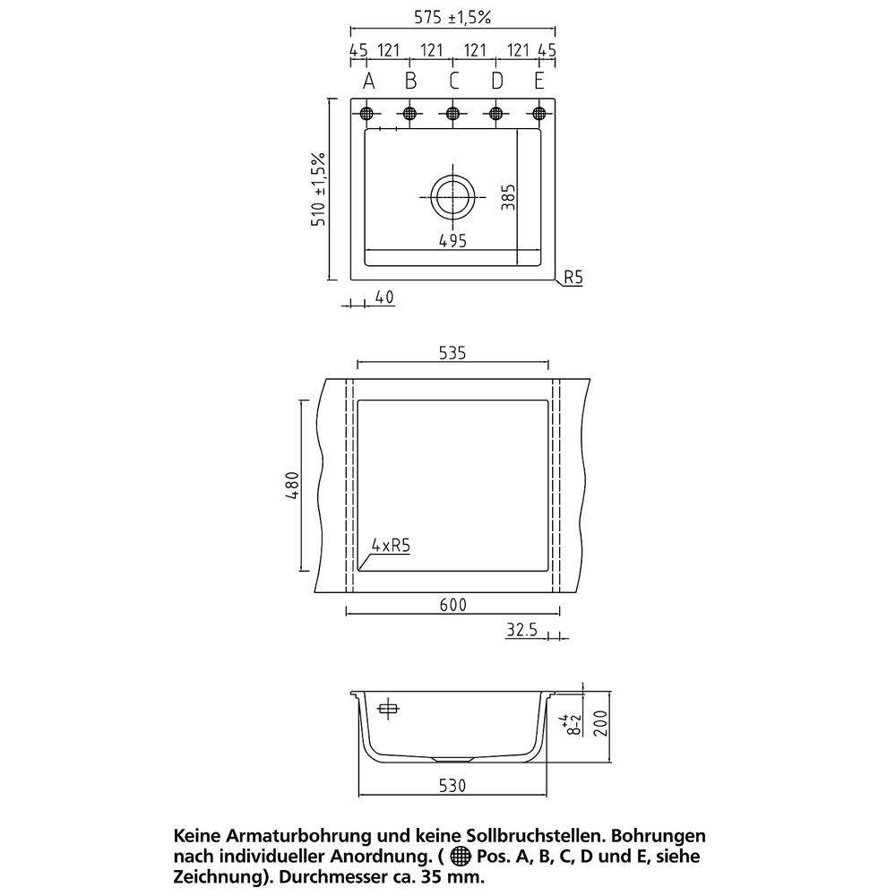 SystemCeram KeraDomo Mera 57 Keramikspüle – Bild 9