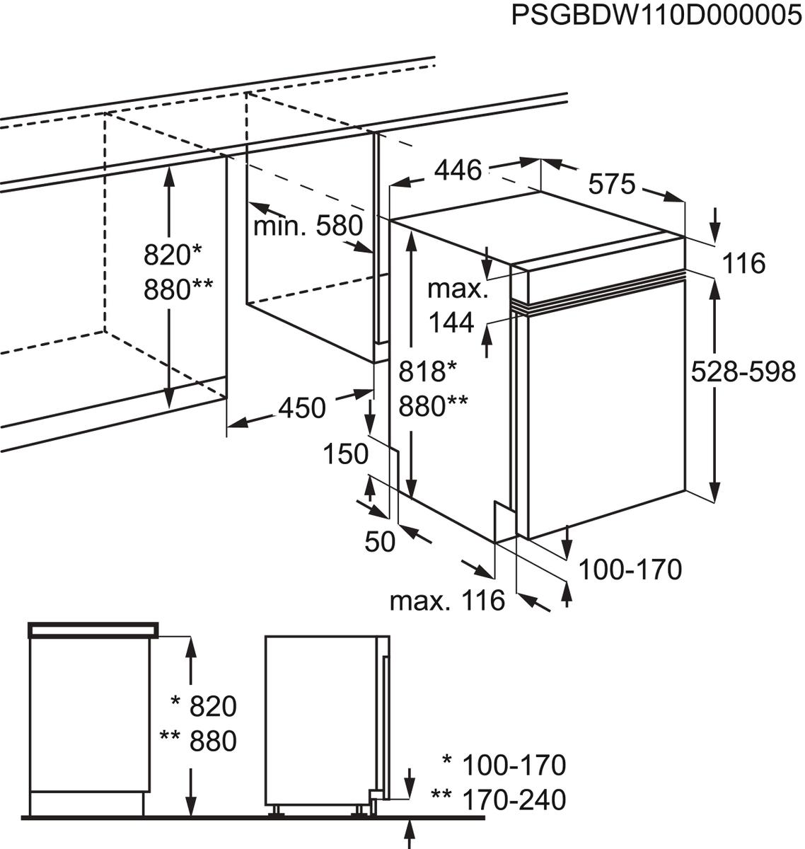 AEG FEB31400ZM Integrierter-Geschirrspüler – Bild 3
