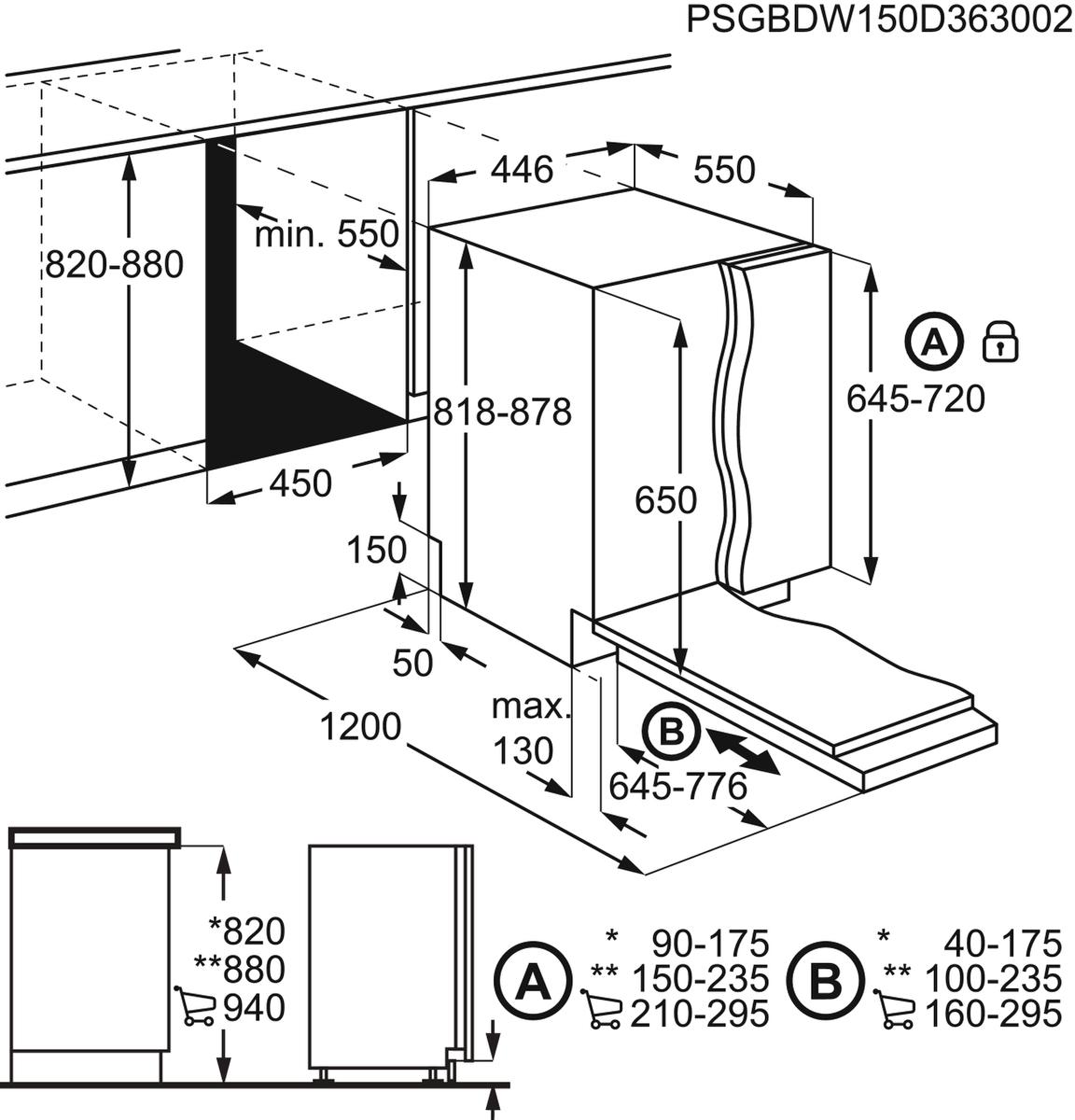 AEG FSE62400P Vollintegrierter-Geschirrspüler – Bild 8