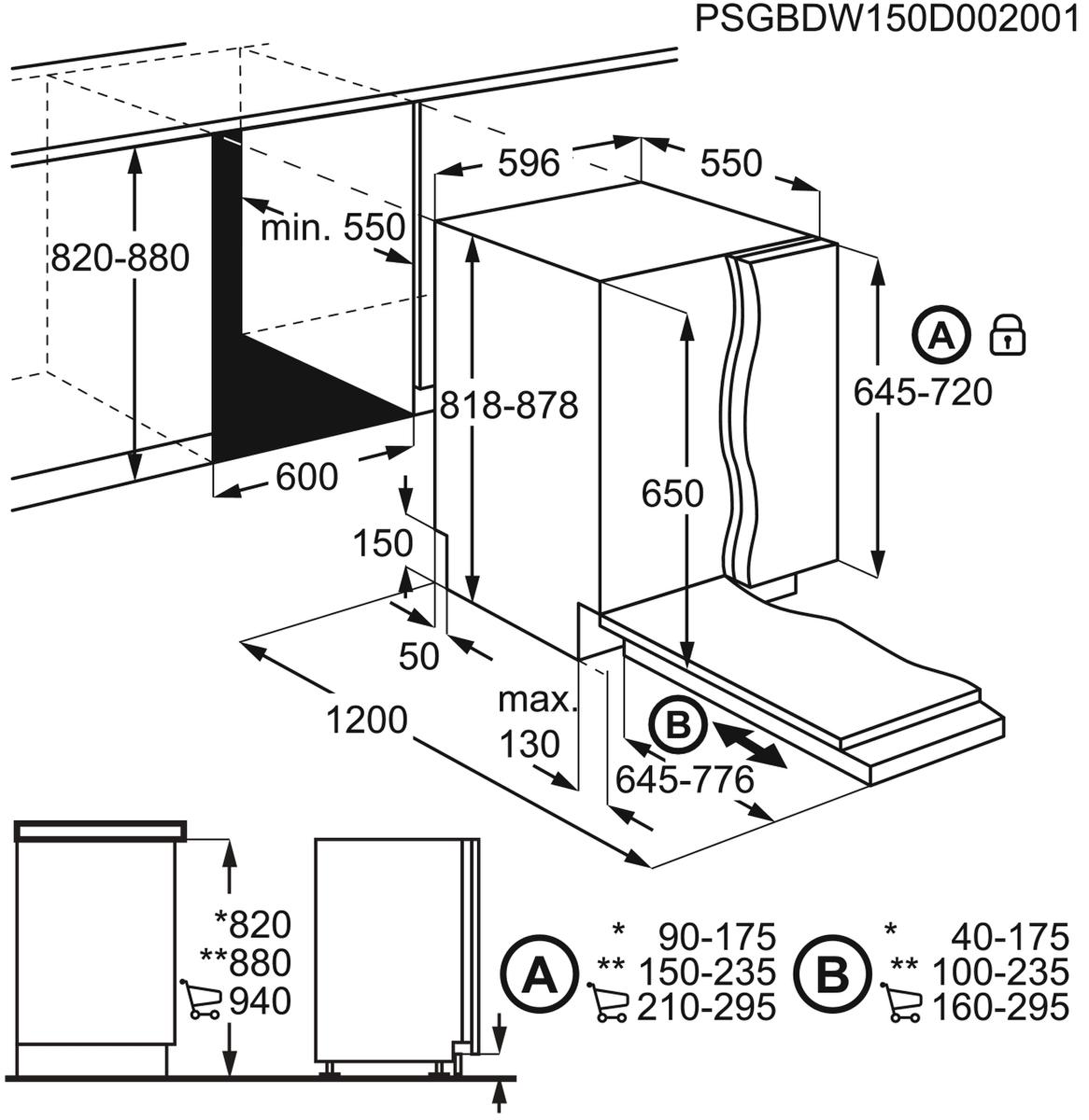 AEG FSB52600Z Vollintegrierter-Geschirrspüler – Bild 7