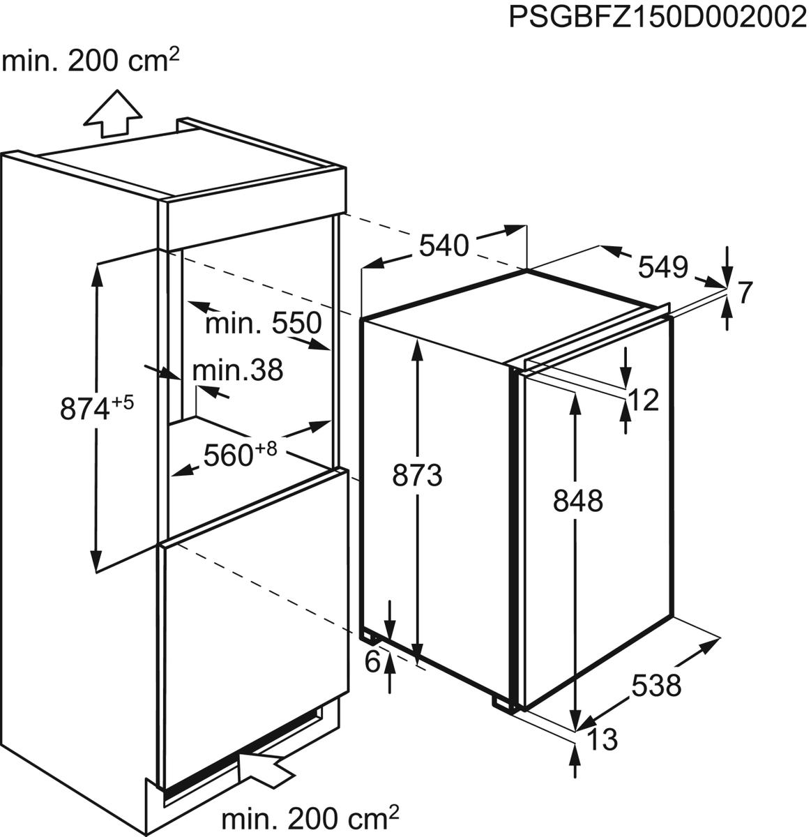 AEG ABB68821LS Einbau-Gefrierschrank – Bild 4