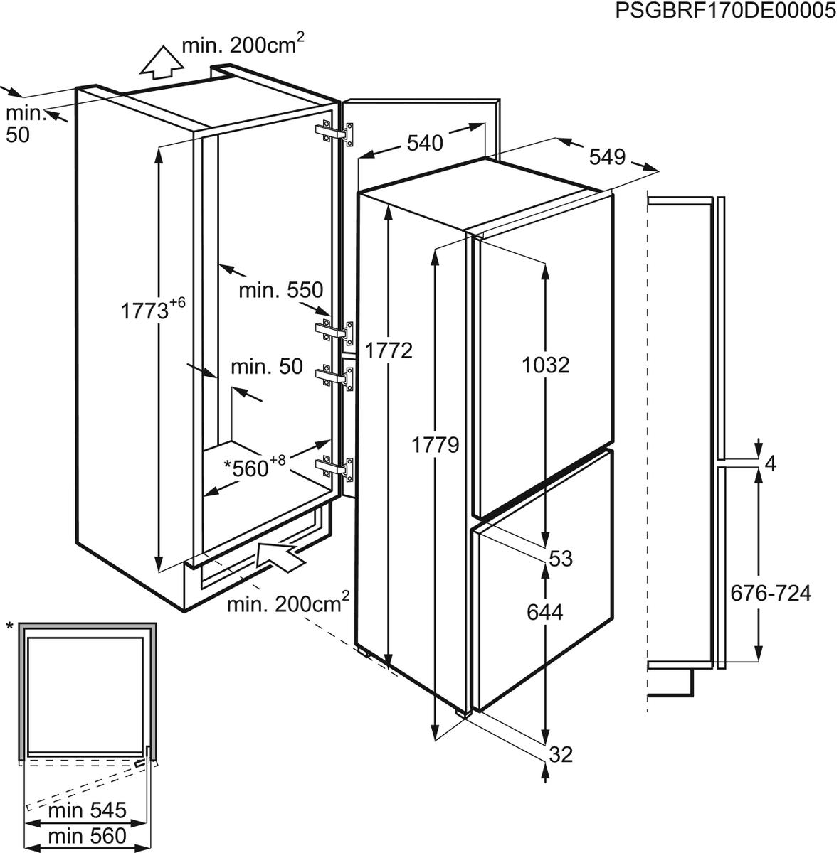 AEG SCB61816NS Einbau-Kühl-Gefrierkombination – Bild 3