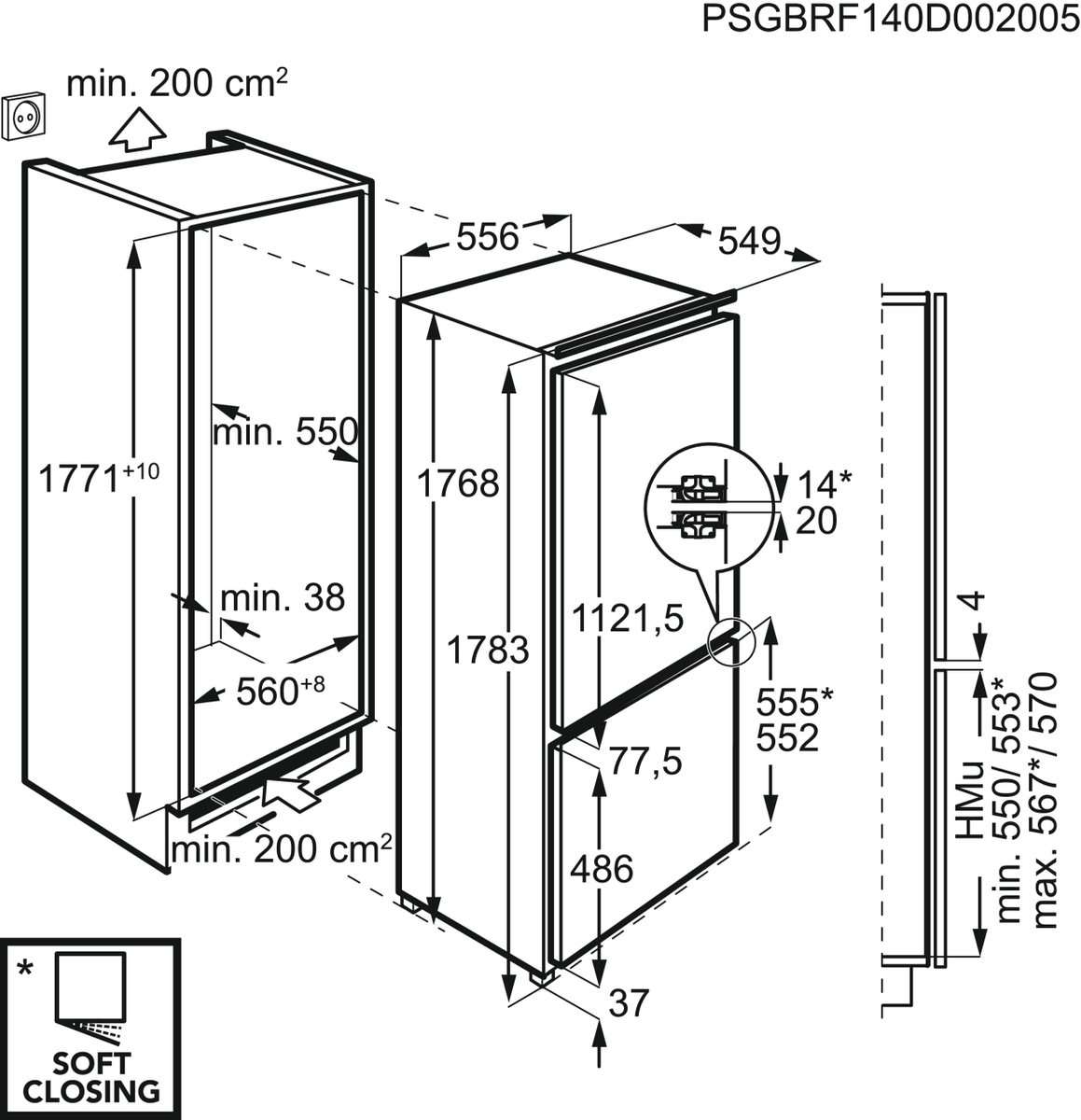 AEG SCE81826ZC Einbau-Kühl-Gefrierkombination – Bild 3
