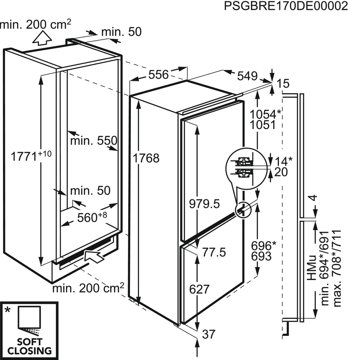 AEG SCE81864TC Einbau-Kühl-Gefrierkombination – Bild 5