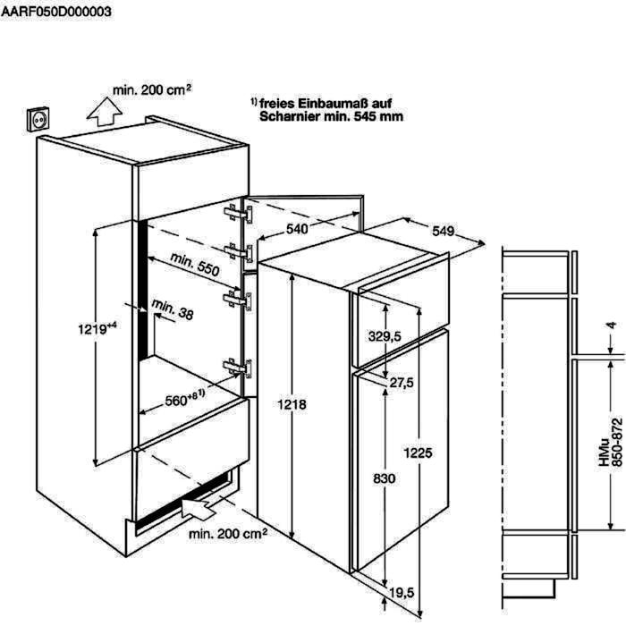 AEG SDB41211AS Einbau Doppeltür - Kühlautomat – Bild 3