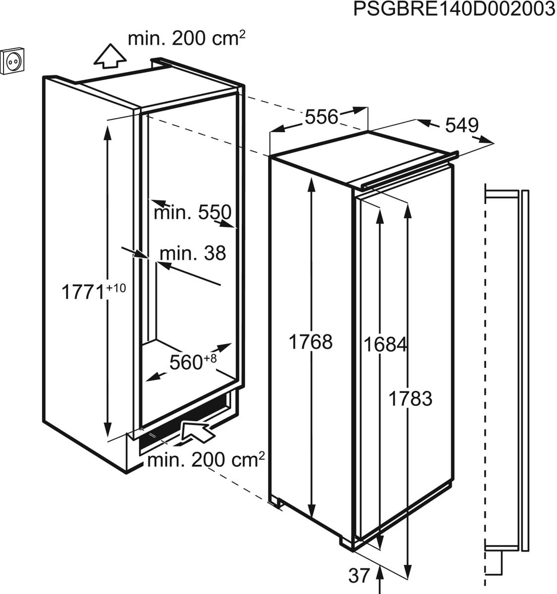 AEG SFE81821DC Einbaukühlschrank – Bild 5