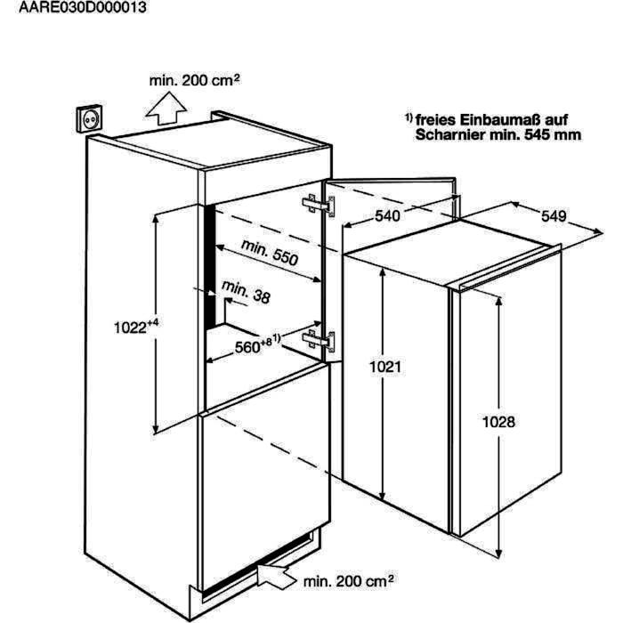 AEG SFB41011AS Einbaukühlschrank – Bild 2
