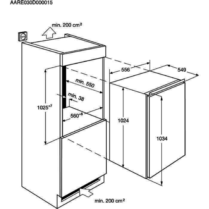 AEG SKE81021AF Einbaukühlschrank – Bild 2