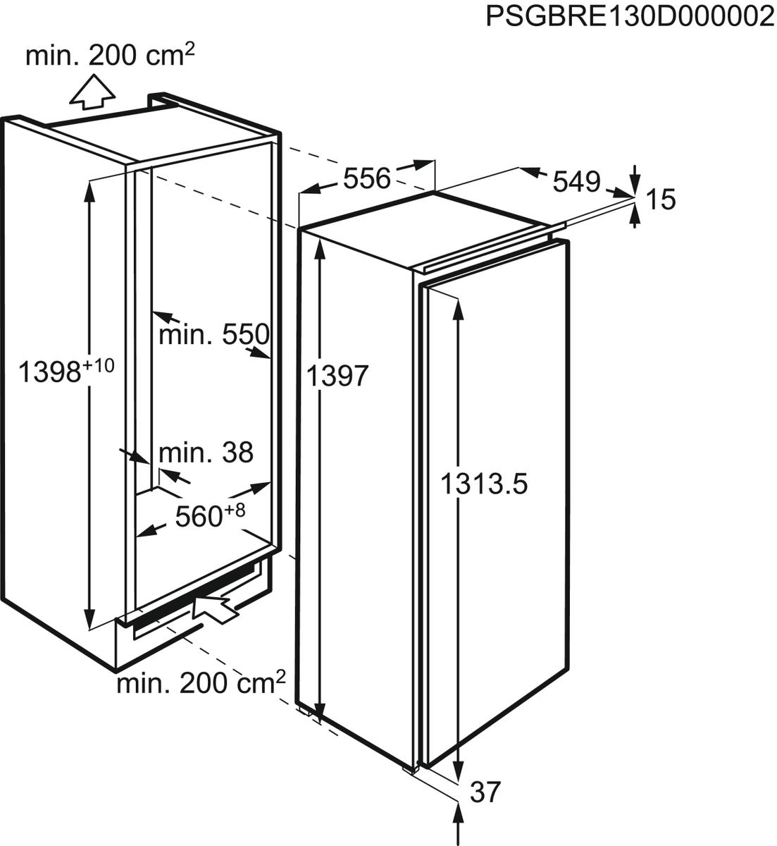AEG SKE81436ZC Einbaukühlschrank – Bild 6