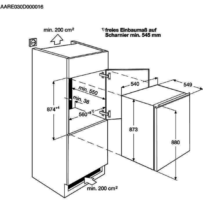 AEG SFB58821AS Einbaukühlschrank – Bild 2