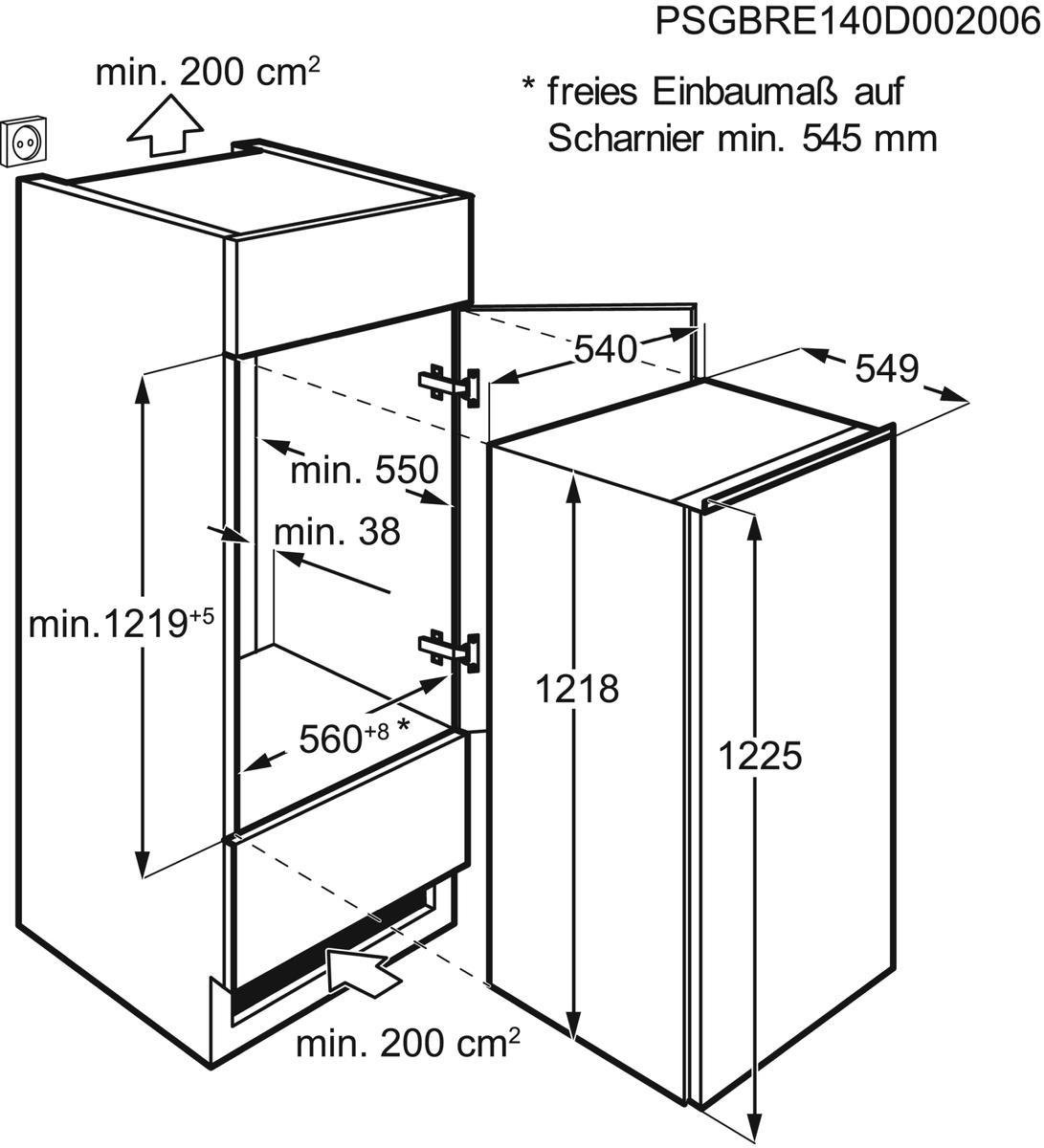 AEG SFB51221AS Einbaukühlschrank – Bild 5