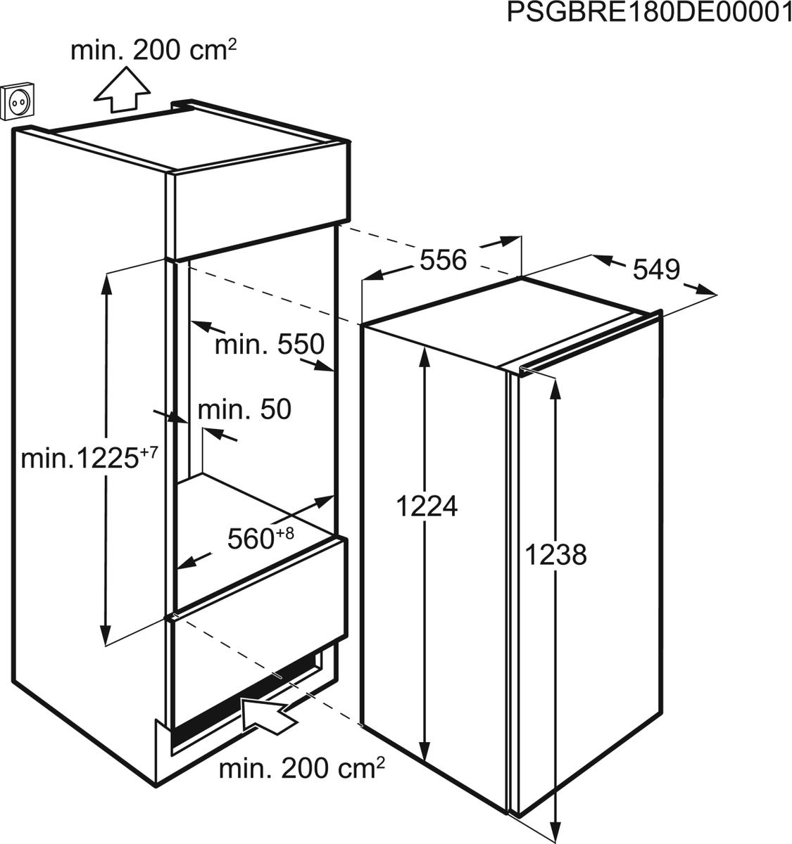 AEG SFE81221AC Einbaukühlschrank – Bild 2