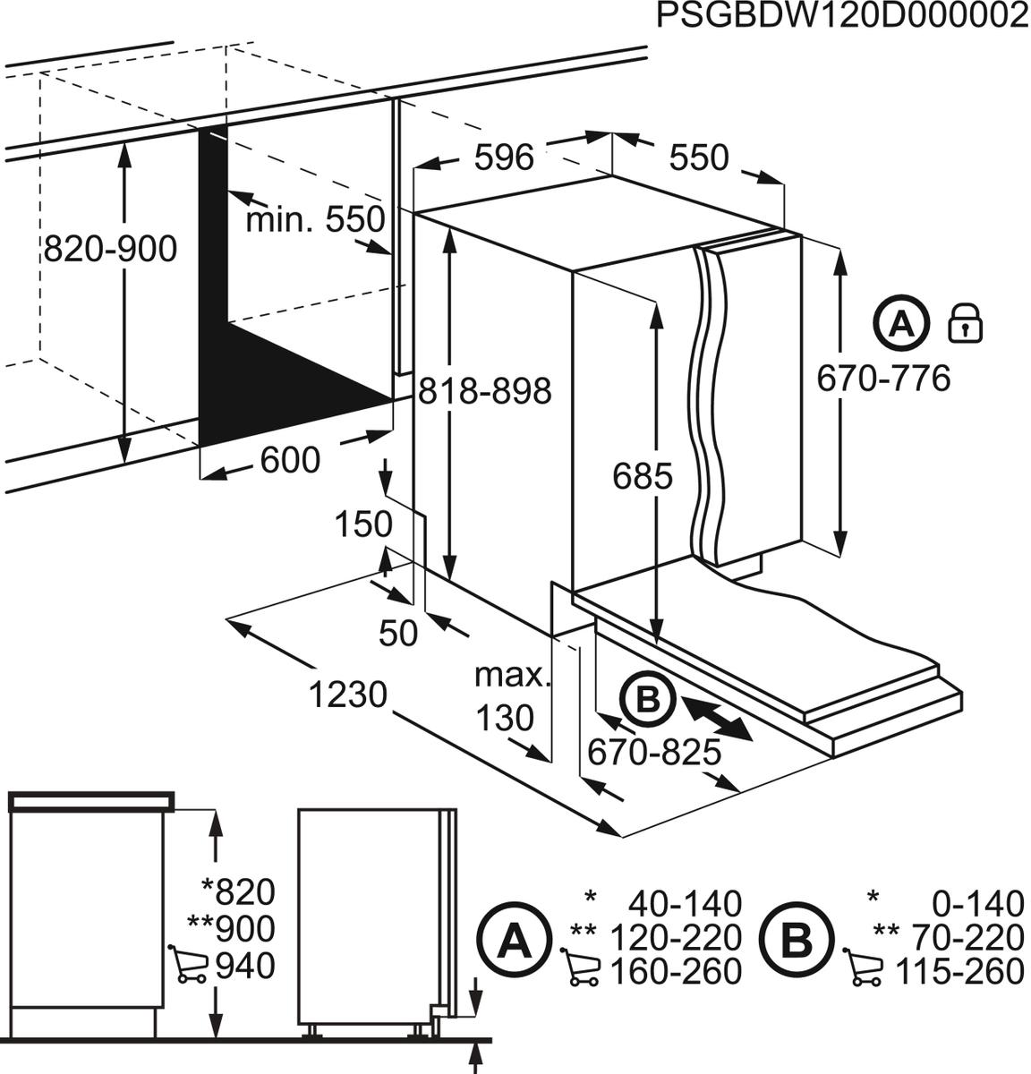 AEG FAV55BVI2P Vollintegrierter-Geschirrspüler – Bild 4