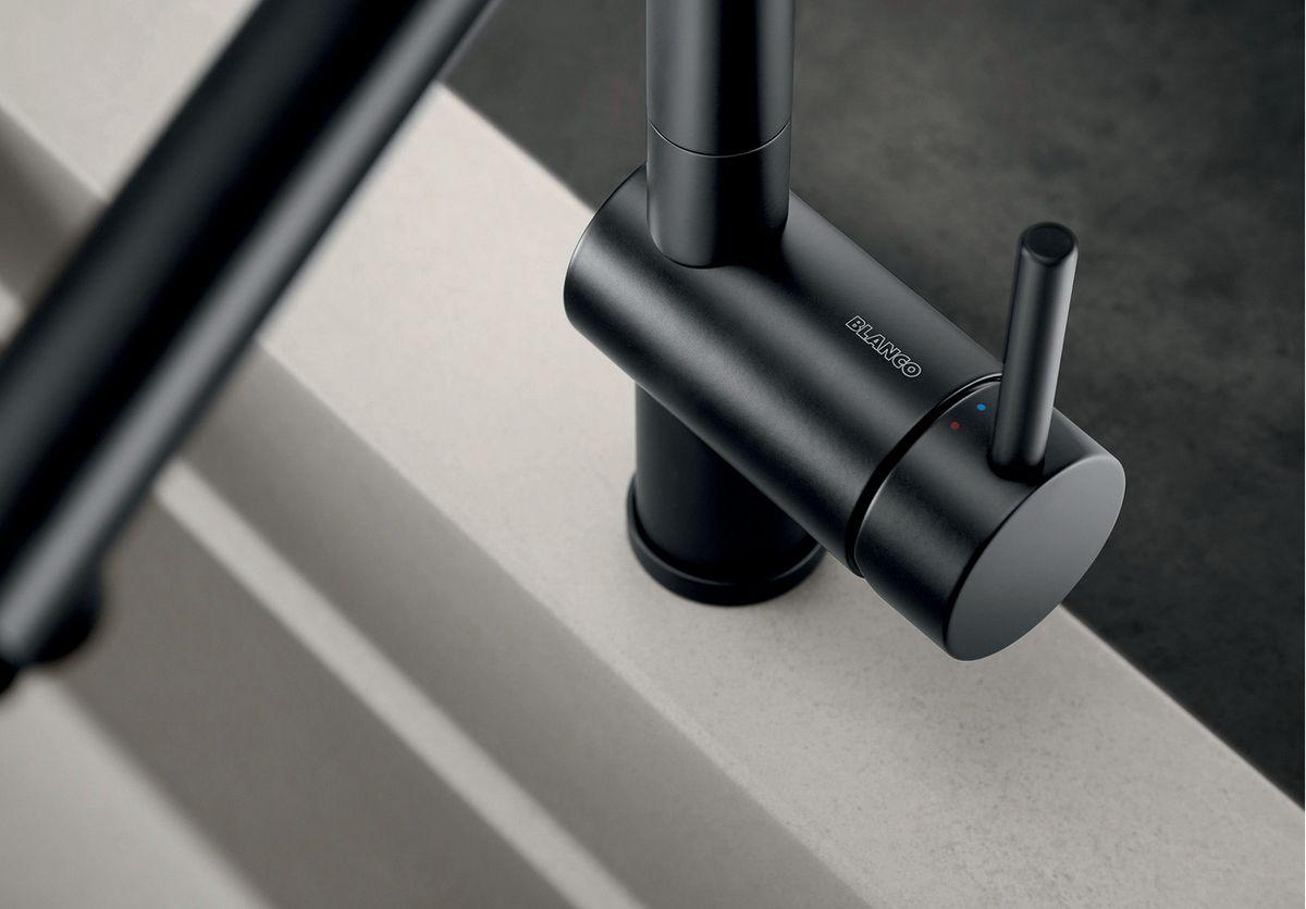 BLANCO Linus Küchenarmatur schwarz Matt 525806 – Bild 3