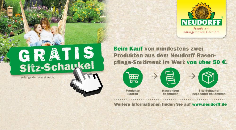 Neudorff Produkte kaufen und Schaukel sichern!