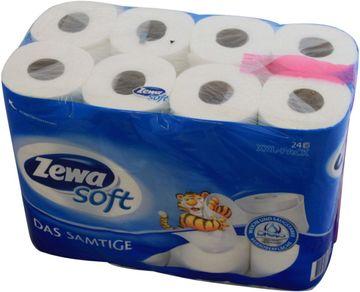 Zewa Soft Das Samtige weiß Toilettenpapier 24 x 140Blatt
