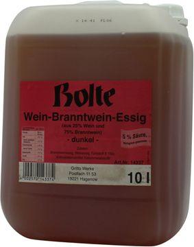 Bolte Wein Brannwein Essig dunkel 5% 10L