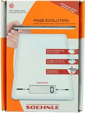 Leifheit Küchenwaage weiß page Evolution Glas – Bild 1