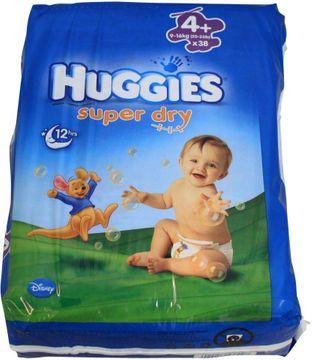 Huggies Super Dry Größe 4+ Windeln 38 Stück