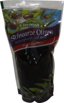 Dittmann Schwarze Oliven mit Stein 250g