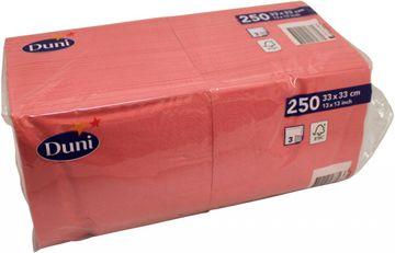 Duni 250 Zelltuch Servietten Coral Pink 33cm x 33cm