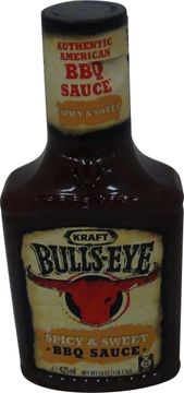 Kraft Bulls-Eye Spicy + Sweet BBQ Sauce 425ml – Bild 1