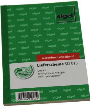 Sigel Lieferschein A6 Selbstdurchschreibend 2x40 Blatt