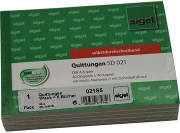 Siegel Quittung A6 Q selbstdurchschreibend 2x40 Blatt 5 mal