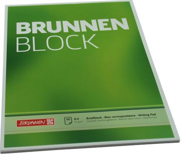 Brunnen Briefblock A4 unliniert 70g