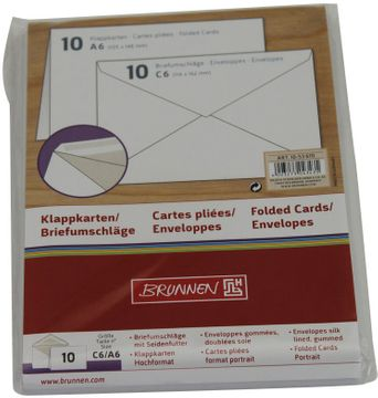 BRIEFKARTE A6 HOCH 10 SETS