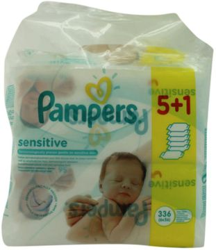 Pampers Babytücher Sensitive 64 Tücher 5+1 Pack