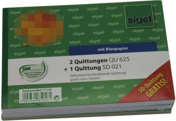 QUITTUNG A6 2X QU625 1X SD 021