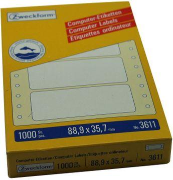 Avery Endlos Etiketten 88,9x35,7mm 1-bahnig 1000 Stück