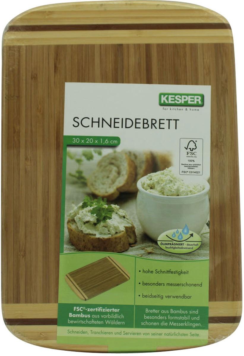 Kesper Schneidebrett Bambus 30x20cm Haushalt Kochen Anrichten