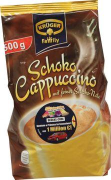 Krüger Cappuccino Family Schoko Nachfüllbeutel 500g – Bild 2
