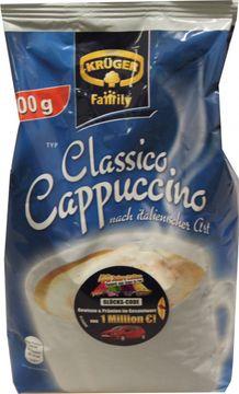 Krüger Family Creme Cappuccino Nachfüllbeutel 500g