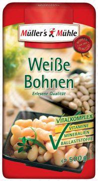 Müllers Mühle Weiße Bohnen 500g