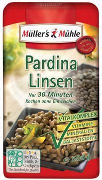 Müllers Mühle Pardina Linsen 500g