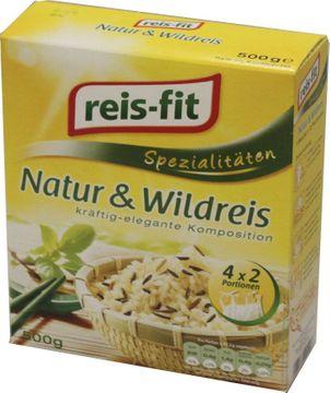 reis fit Natur + Wildreis 500g im Kochbeutel