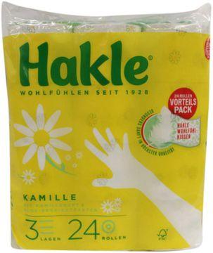 Hakle mit Kamille Toilettenpapier 3-lagig 24 x 150 Blatt