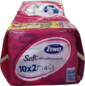 Zewa Soft Toilettenpapier 4-lagig 2 x 150 Blatt – Bild 2