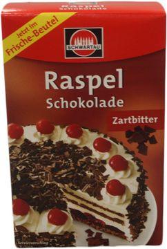 Schwartau Zartbitter Raspelschokolade 100g