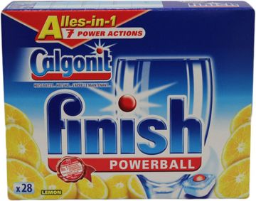Calgonit Finish Powerball Tabs Alles-in-1 Lemon 28 Tabs