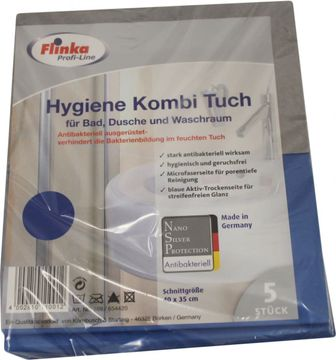Flinka Profi Hygiene Kombituch Bad, Dusche 5er Pack